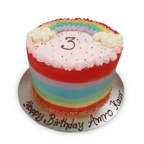 (R95) Rainbow Theme Cake