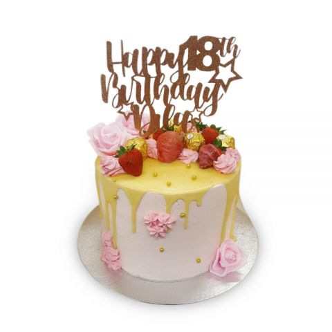 elegant drip cake